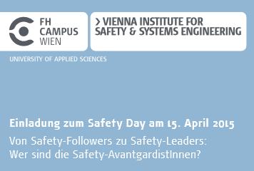 Einladung zum Safety Day am 15. April 2015